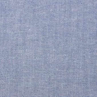 コットン×無地(ブルー)×オックスフォード・シャンブレー