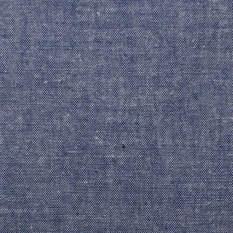 コットン×無地(ブルー)×ダンガリー