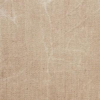 コットン&リネン混×パラフィンプリント(ベージュピンク)×ヘリンボーンストレッチ