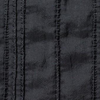 ナイロン&コットン×無地(ブラック)×ボイル&ガーゼ_全3色