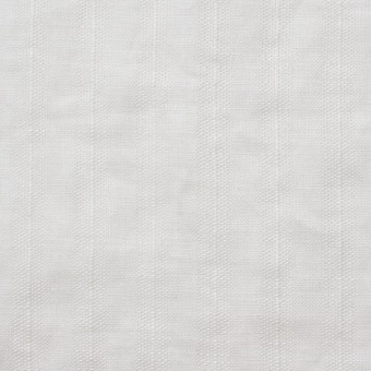 リネン×無地(ホワイト)×からみ織