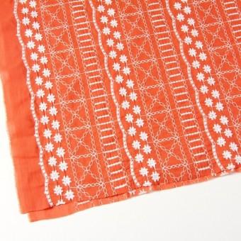 コットン×フラワー(オレンジ)×ヨウリュウ刺繍 サムネイル2