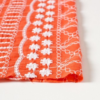 コットン×フラワー(オレンジ)×ヨウリュウ刺繍 サムネイル3