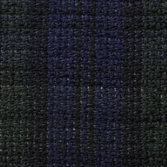 コットン×チェック(ブラックウォッチ)×かわり織