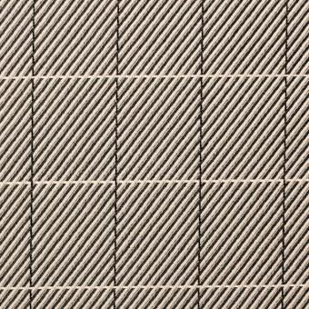 シルク&コットン×チェック(キナリ&ブラック)×かわり織
