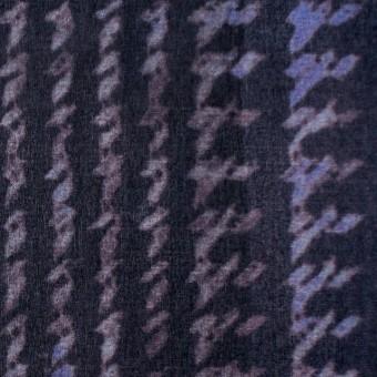 シルク×幾何学模様(パープル)×オーガンジー