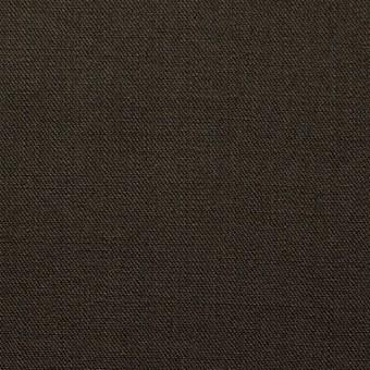 コットン&リネン×無地(ダークブラウン)×チノクロス
