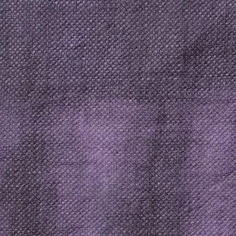 リネン×幾何学模様(パープル)×かわり織