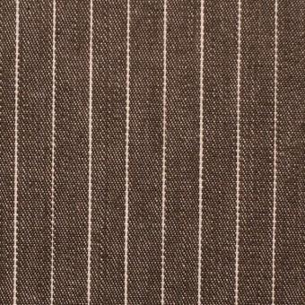 コットン×ストライプ(ブラウン)×デニム_全3色