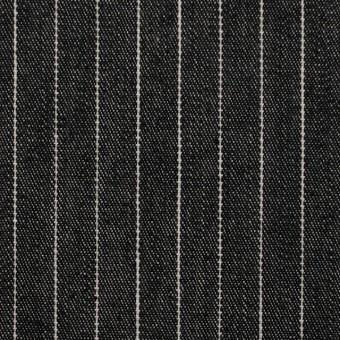 コットン×ストライプ(ブラック)×デニム_全3色