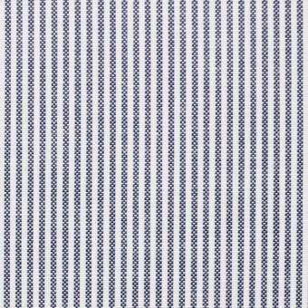 コットン×ストライプ(ブルー)×オックスフォード