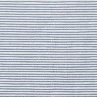 コットン&リネン×ボーダー(ブルー)×ブロード_イタリア製