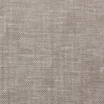 リネン&コットン×無地(ダークブラウン)×ヘリンボーン_全5色