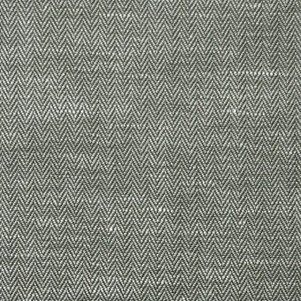 リネン&コットン×無地(カーキグリーン)×ヘリンボーン_全5色