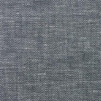リネン&コットン×無地(ブラック)×ヘリンボーン_全5色