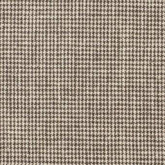 コットン×チェック(ブラウン)×千鳥格子_全2色