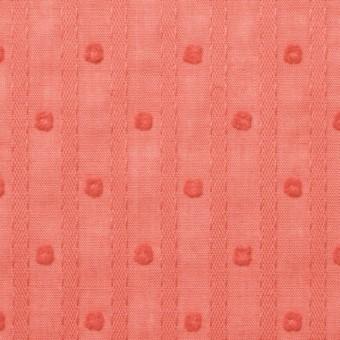コットン×ドット(オレンジ)×ボイルジャガード_全3色