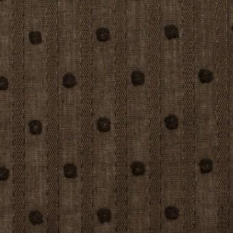 コットン×ドット(ブラウン)×ボイルジャガード_全3色