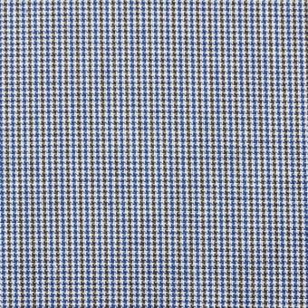 コットン×チェック(サックス&オリーブ)×千鳥格子_全2色