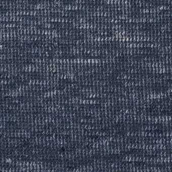 リネン&コットン×ミックス(ブルーグレー)×スムースニット_全2色