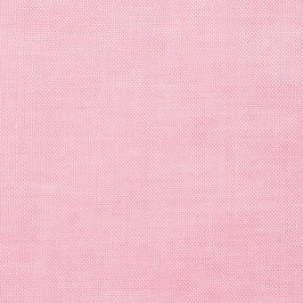 コットン×無地(ピンク)×オックスフォードシャンブレー