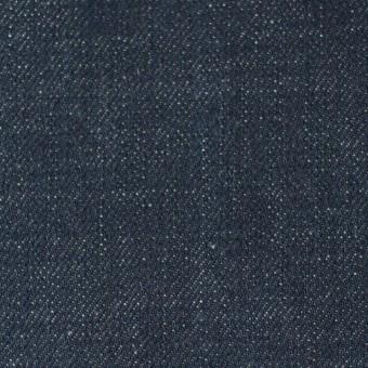 コットン×無地(インディゴ)×セルビッチデニム(12.5oz)