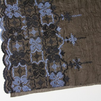 コットン×フラワー(ブラウン)×ボイル刺繍_全4色 サムネイル2