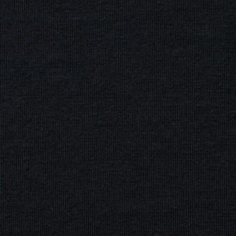 コットン&リネン×無地(ブラック)×天竺ニット_全4色