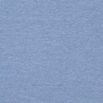 コットン&ポリウレタン×無地(サックス)×スムース丸編みニット_全2色