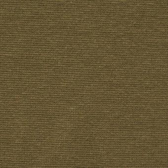 コットン&ポリウレタン×無地(オリーブ)×スムース丸編みニット_全2色