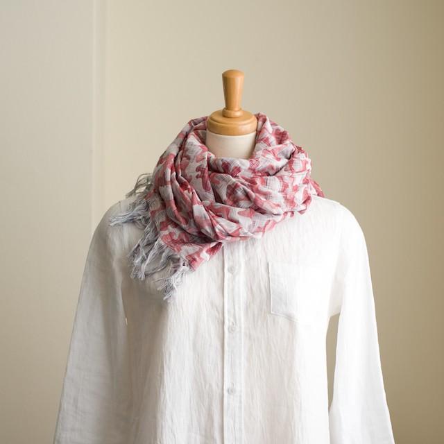 二重織ジャガードのストールキット(レッド) イメージ1
