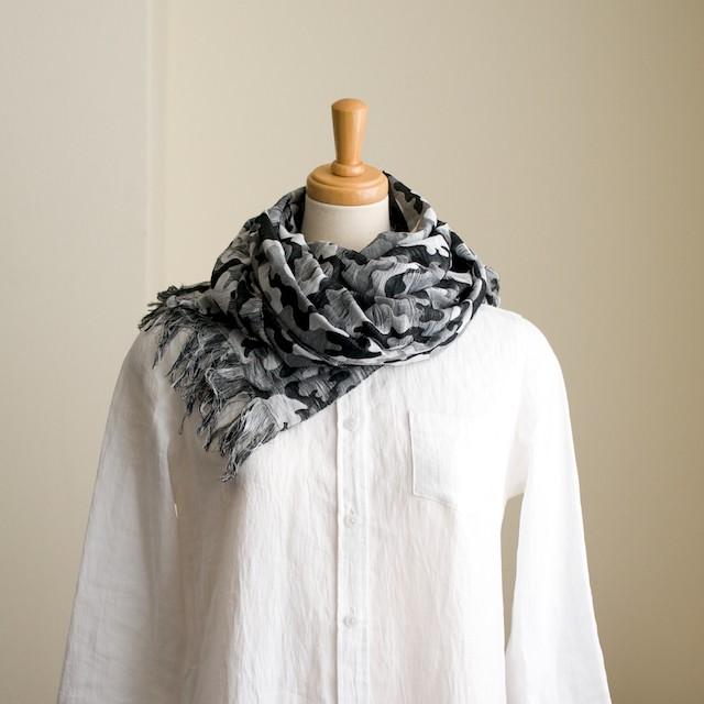 二重織ジャガードのストールキット(ブラック&グレー) イメージ1