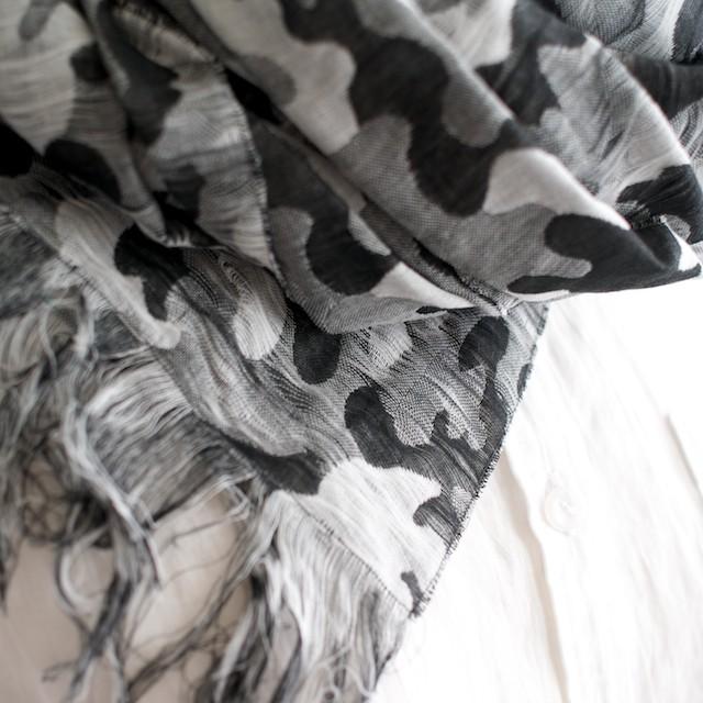 二重織ジャガードのストールキット(ブラック&グレー) イメージ3