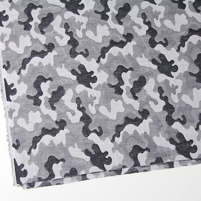 二重織ジャガードのストールキット(ブラック&グレー) イメージ4