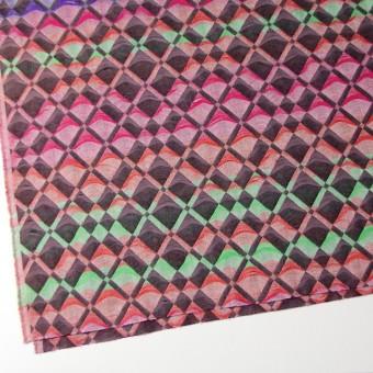 二重織ジャガードのストールキット(レインボーミックス) サムネイル4