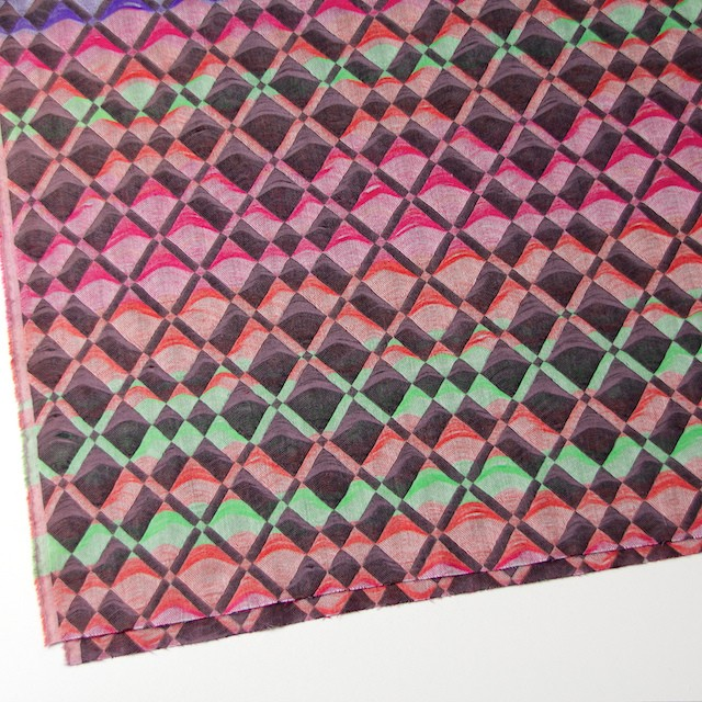 二重織ジャガードのストールキット(レインボーミックス) イメージ4
