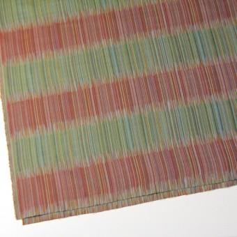 二重織ジャガードのストールキット(オレンジ&グリーン) サムネイル4
