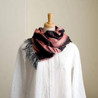 二重織ジャガードのストールキット(レッド&ブラック)