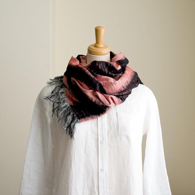 二重織ジャガードのストールキット(レッド&ブラック) イメージ1