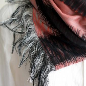 二重織ジャガードのストールキット(レッド&ブラック) サムネイル3