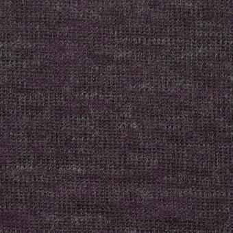 アクリル&テンセル×無地(パープル&グレー)×Wニット_全2色