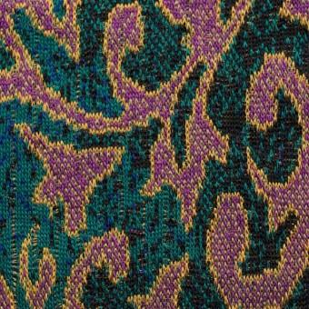 アクリル&ウール×幾何学模様(チリアンパープル&エメラルドグリーン)×ジャガードニット_全3色
