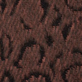 ウール×幾何学模様(ブラウンミックス)×シャギージャガード