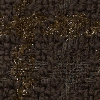 ウール&ポリアミド混×格子(ブラウンミックス)×ファンシーツイード_イタリア製