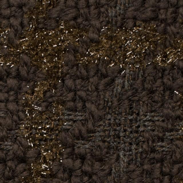 ウール&ポリアミド混×格子(ブラウンミックス)×ファンシーツイード_イタリア製 イメージ1