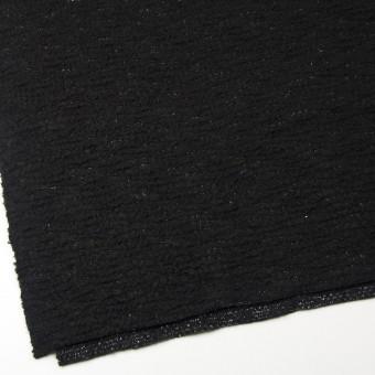 ウール&アクリル混×無地(ブラック)×ループニット サムネイル2