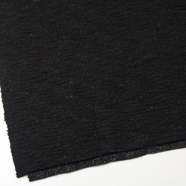 ウール&アクリル混×無地(ブラック)×ループニット イメージ2