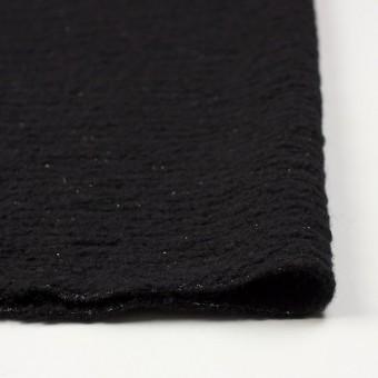 ウール&アクリル混×無地(ブラック)×ループニット サムネイル3