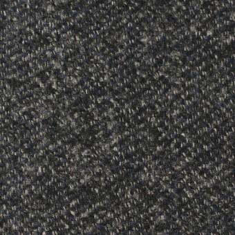 ウール×無地(ブルー&グレー)×ループツイード