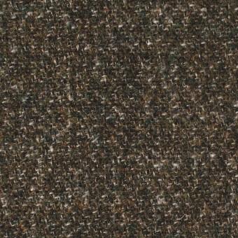 ウール×無地(カーキミックス)×二重梨地織